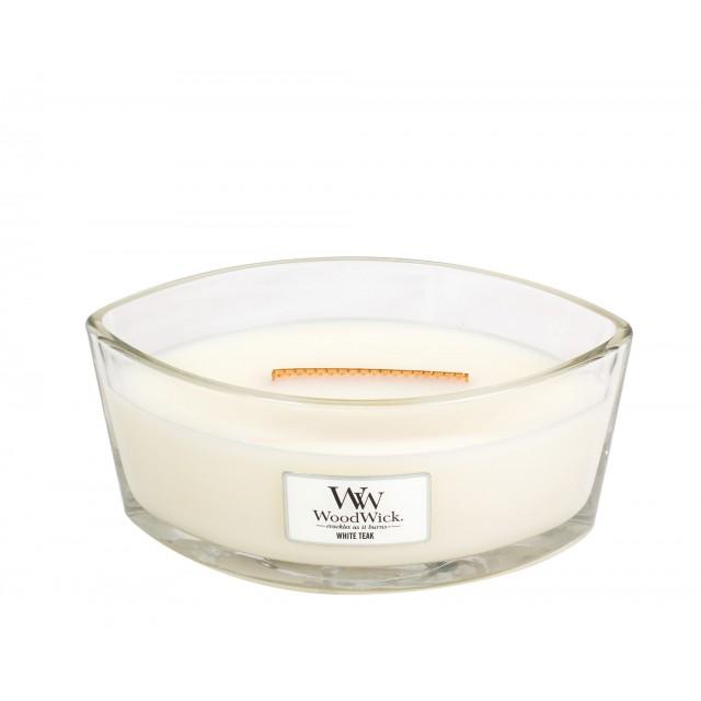 Lumanare Parfumata Ellipse White Teak, WoodWick®
