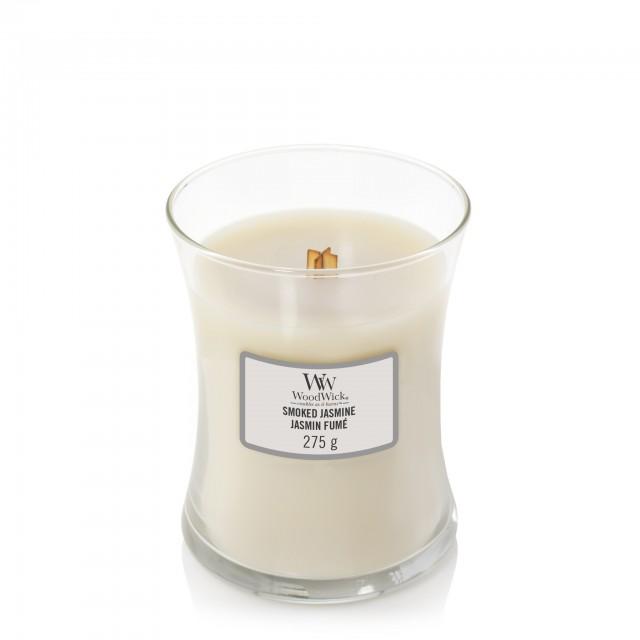 Lumanare Parfumata Borcan Mediu Smoked Jasmine, WoodWick®
