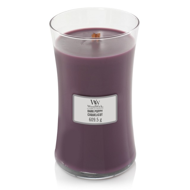 Lumanare Parfumata Borcan Mare Dark Poppy, WoodWick®