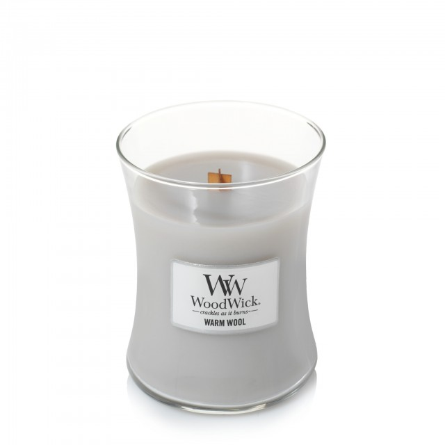 Lumanare Parfumata Borcan Mic Warm Wool, WoodWick®