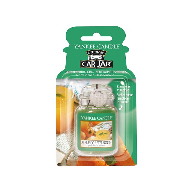 Odorizant Auto Car Jar Ultimate Alfresco Afternoon, Yankee Candle