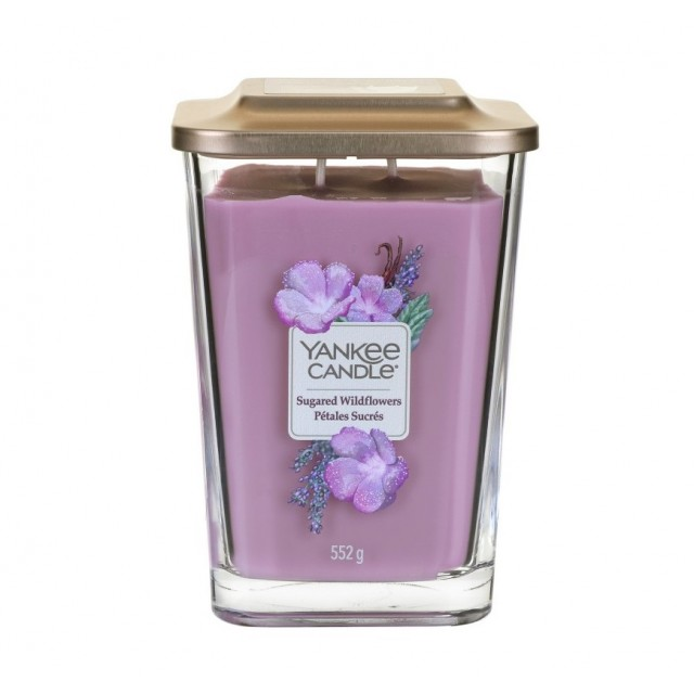 Lumanare Parfumata Elevation Collection Borcan Mare Sugared Wildflowers, Yankee Candle