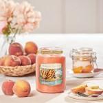 Lumanare Parfumata Borcan Mare Grilled Peaches & Vanilla, Yankee Candle