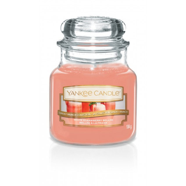 Lumanare Parfumata Borcan Mic White Strawberry Bellini, Yankee Candle