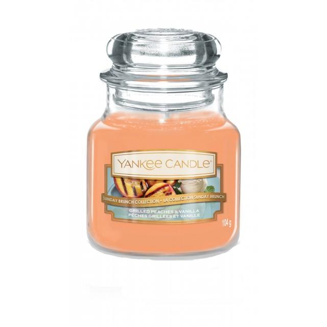 Lumanare Parfumata Borcan Mic Grilled Peaches & Vanilla, Yankee Candle