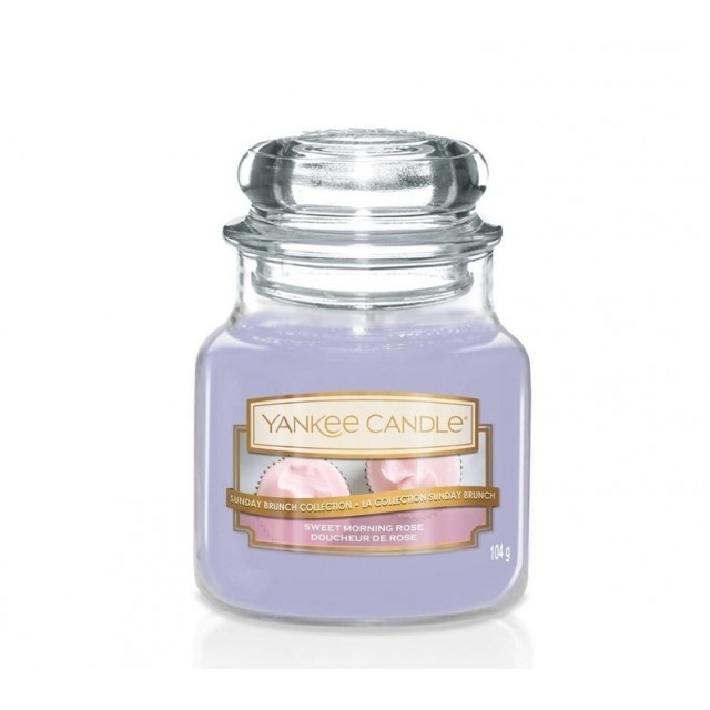 Lumanare Parfumata Borcan Mic Sweet Morning Rose, Yankee Candle