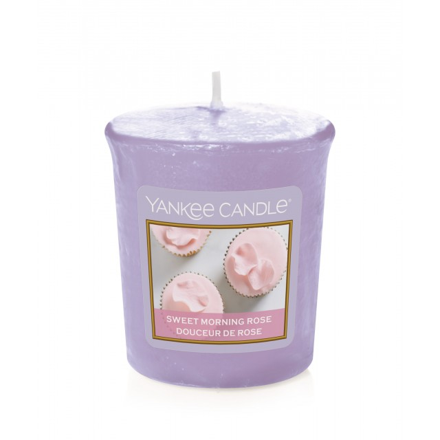 Lumanare Parfumata Votive Sweet Morning Rose, Yankee Candle