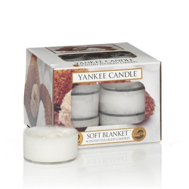 Set 12 lumanari parfumate tip pastila Soft Blanket, Yankee Candle