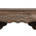 Rama/masca decorativa din lemn pentru semineu, 125*28*101 cm, Clayre & Eef