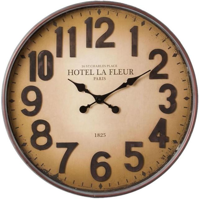 """Ceas """"Hotel La Fleur"""" Ø60*6 cm, Clayre&Eef"""