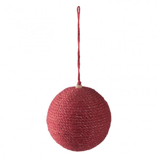 "Decoratiune de agatat ""Red Christmas Ball"", Clayre&Eef"