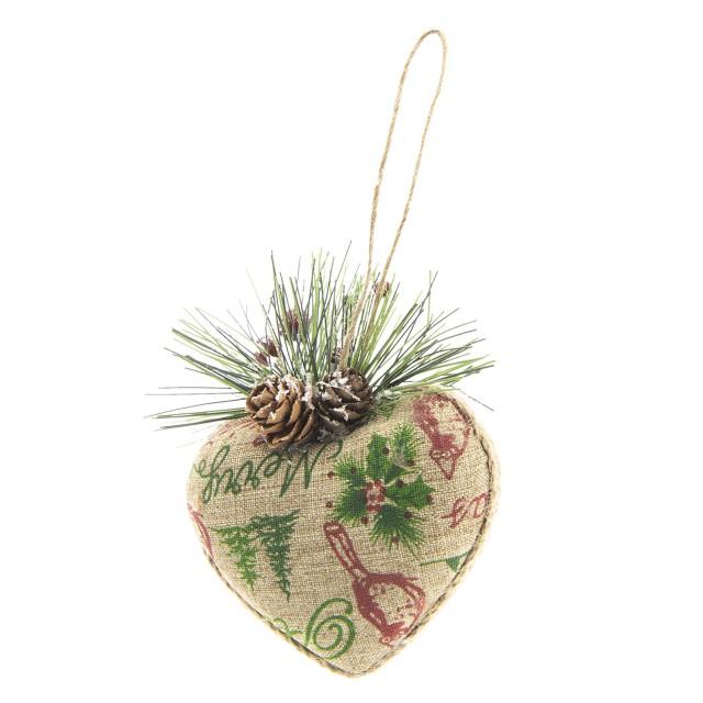 "Decoratiune de agatat ""Christmas Heart"", Clayre&Eef"