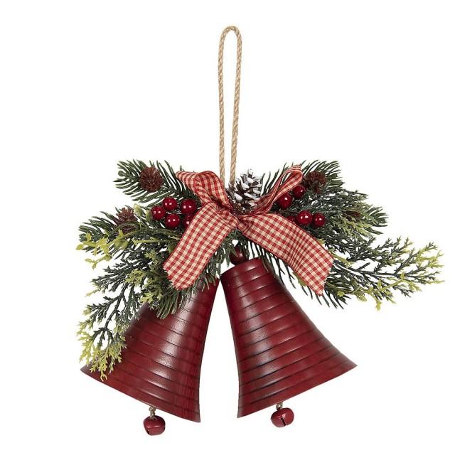 """Coronita decorativa de agatat Craciun """"Bells"""" 23*8*18 cm, Clayre&Eef"""