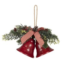 """Coronita decorativa de agatat Craciun """"Bells"""" 17*9*12 cm, Clayre&Eef"""