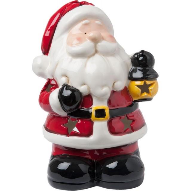 "Decoratiune pentru lumanari tip pastila ""Santa"" 18*14*26 cm, Clayre & Eef"