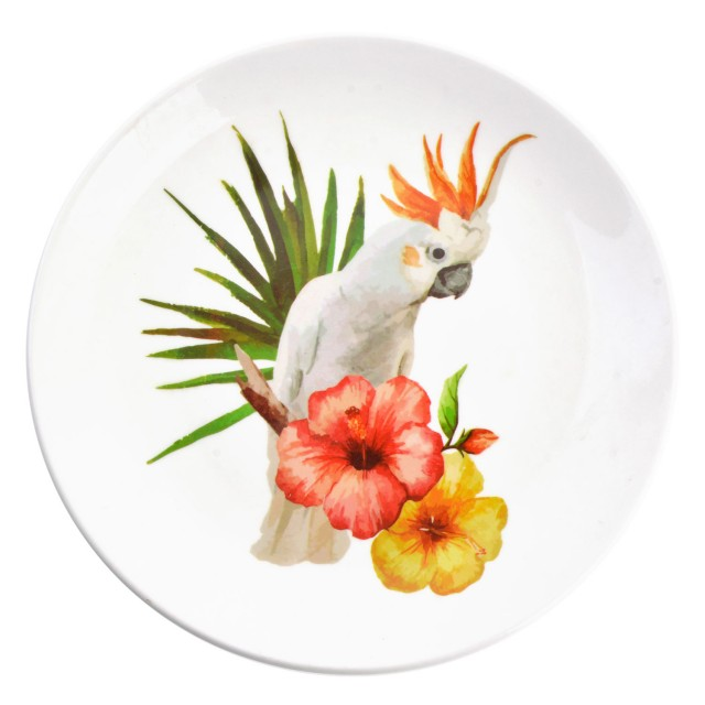 "Farfurie decorativa ""Tropical Parrot"", Clayre&Eef"