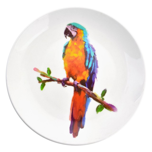 """Farfurie decorativa """"The colours of the Parrot"""", Clayre&Eef"""