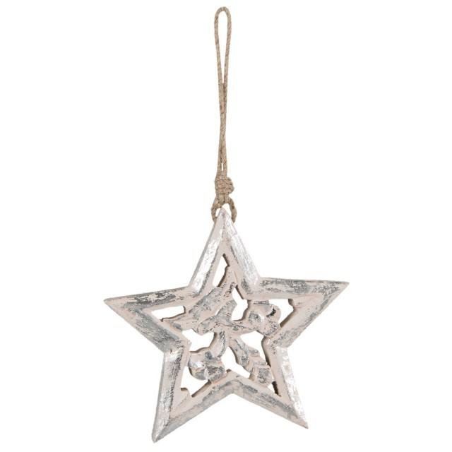 """Decoratiune de agatat """"Star"""" 15*2*14 cm, Clayre & Eef"""