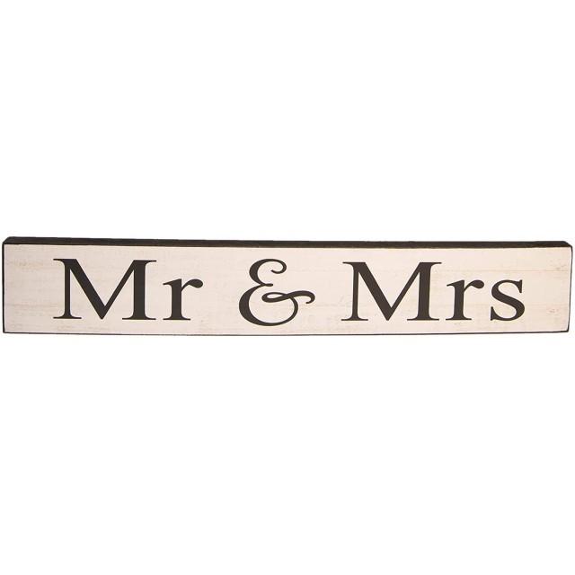 """Decoratiune de agatat """"Mr&Mrs"""" 60*10*2 cm, Clayre&Eef"""