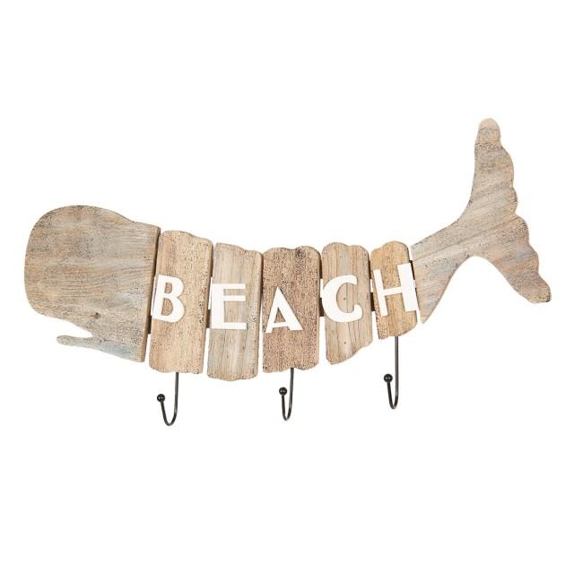 "Cuier cu decor marin ""Whale"", Clayre&Eef"