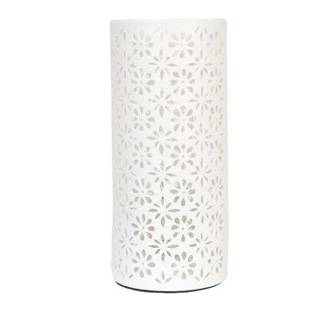 "Veioza din ceramica ""White Flowers"", Clayre & Eef"