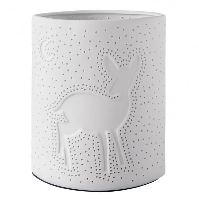 """Veioza din portelan """"White Deer"""", Clayre & Eef"""