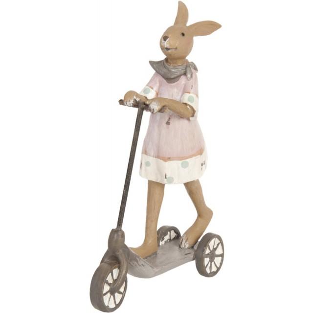"Decoratiune ""Bunny on the scooter"", Clayre&Eef"