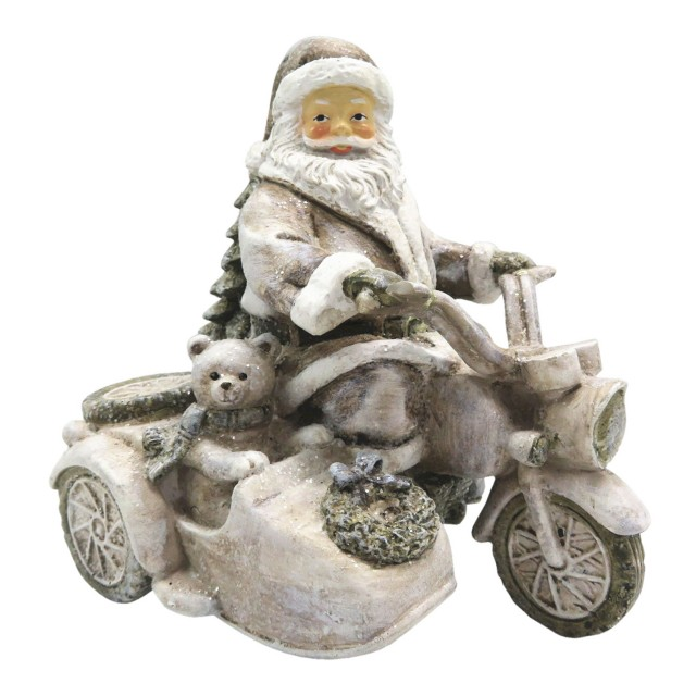 "Decoratiune ""Santa is coming"" 13*10*13 cm, Clayre & Eef"