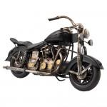 "Motocicleta decorativa ""Retro Black Motobike"", Clayre&Eef"