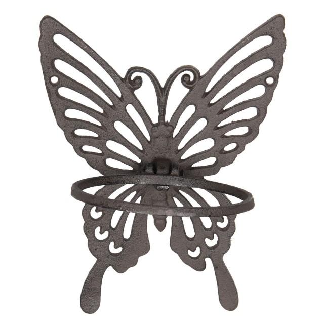 "Suport de prosoape cu inel ""Butterfly"" 18*15*23 cm, Clayre&Eef"