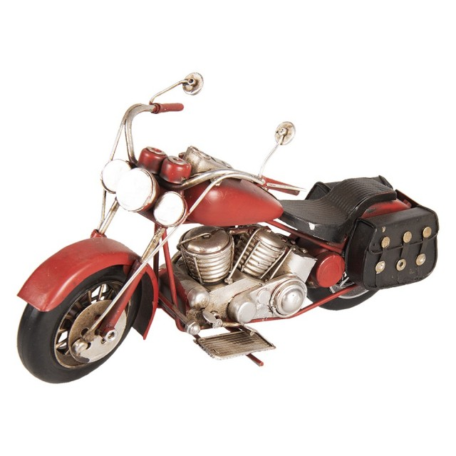 """Motocicleta decorativa """"Retro Red Motorbike"""" 28*10*14 cm, Clayre & Eef"""