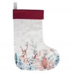 "Decoratiune de agatat ""Dearly Christmas Sock"" 30*40 cm, Clayre & Eef"