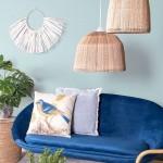 """Perna decorativa """"Blue"""" 45*45 cm, Clayre & Eef"""