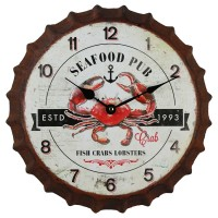 "Ceas ""Seafood Pub"" Ø 35*4.5 cm, Clayre & Eef"