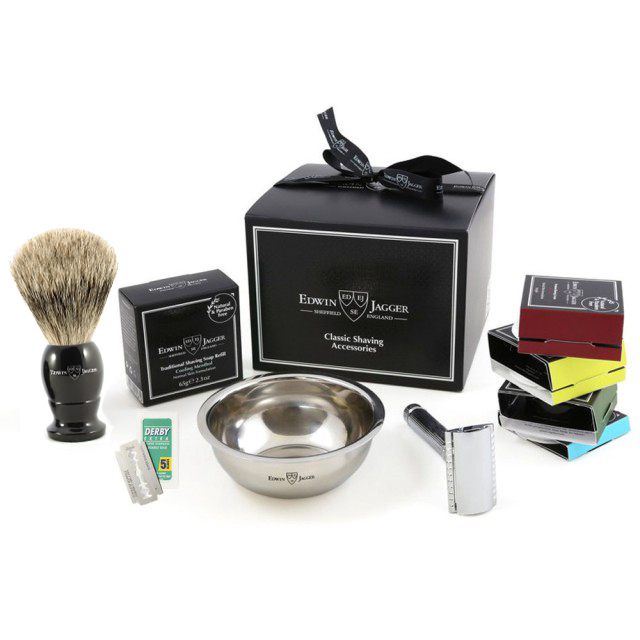 "Edwin Jagger Set cadou pentru barbierit ""My First Shaving Kit"""