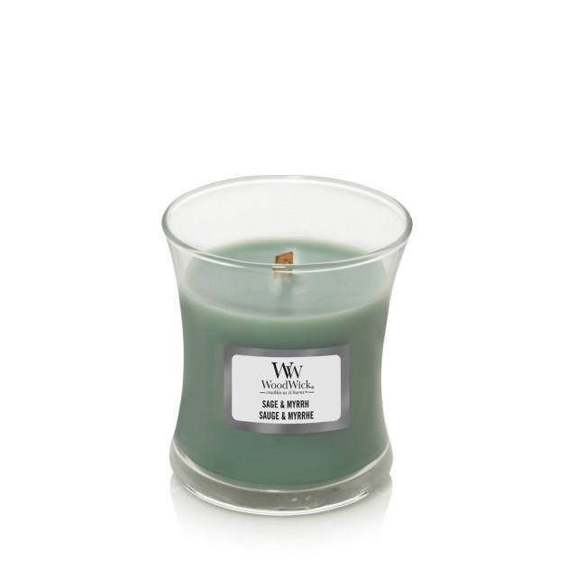 Lumanare Parfumata Borcan Mic Sage & Myrrh, WoodWick®