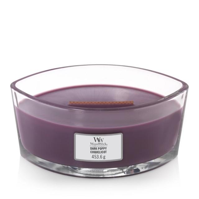 Lumanare Parfumata Ellipse Dark Poppy, WoodWick®