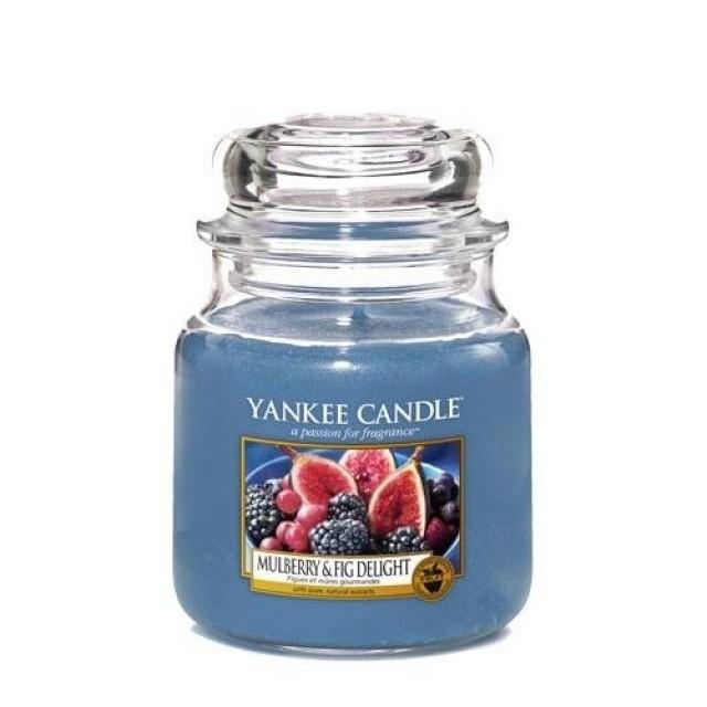 Lumanare Parfumata Borcan Mediu Mulberry & Fig Delight, Yankee Candle