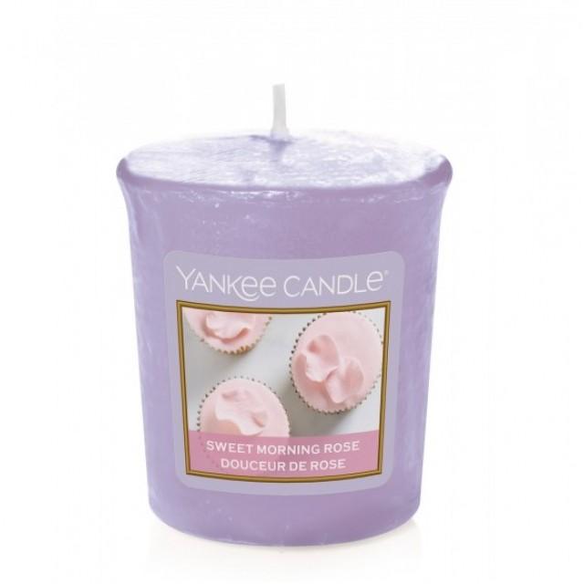 Lumanare Parfumata Votive Sweet Morning Rose, Yankee Candle