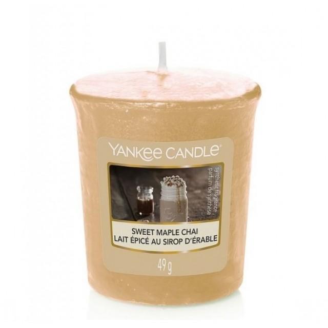 Lumanare Parfumata Votive Sweet Maple Chai, Yankee Candle