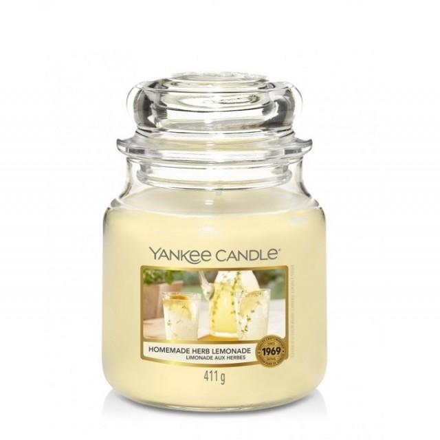 Lumanare Parfumata Borcan Mediu Homemade Herb Lemonade, Yankee Candle