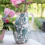 "Carafa ""Green Plants"" 16*12*22 cm / 1.3L, Clayre & Eef"