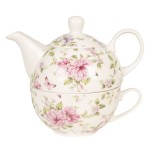 """Ceainic Tea for One """"Spring Blossom"""" White, Clayre & Eef"""
