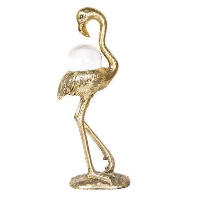"Decoratiune ""Golden Flamingo"" 11*6*25 cm, Clayre & Eef"