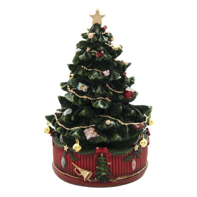 Carusel muzical Christmas Tree Ø 12*18 cm, Clayre & Eef