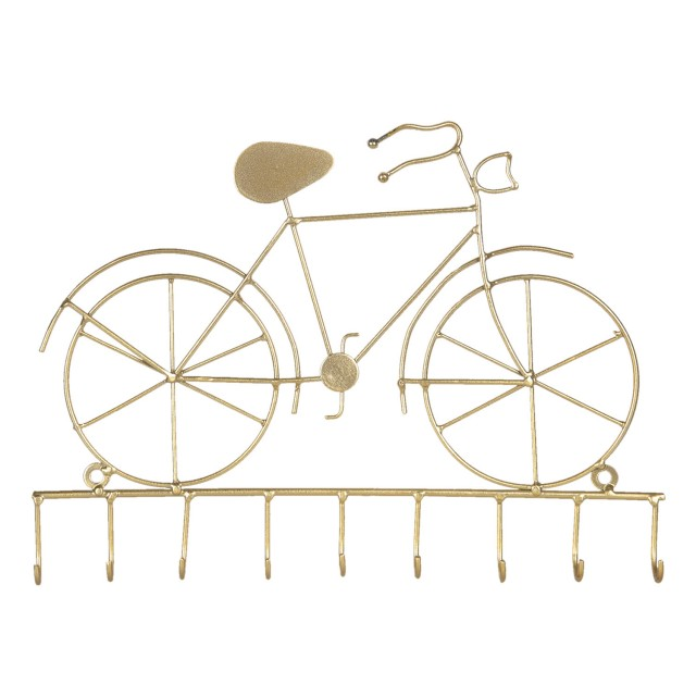 "Cuier auriu ""Bicycle""  32*4*23 cm,Clayre&Eef"