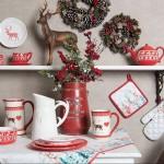 """Ceasca cu farfurie """"Dearly Christmas"""", Clayre & Eef"""