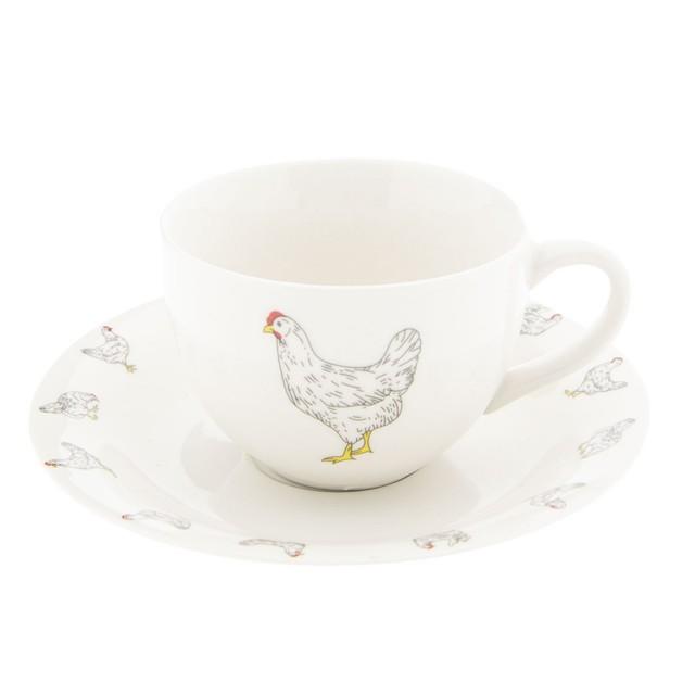 "Ceasca cu farfurie ""Little Chicken"" Ø 15*7 cm / 0,2L, Clayre&Eef"