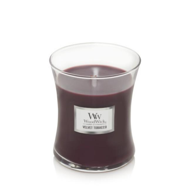 Lumanare Parfumata Borcan Mic Velvet Tobacco, WoodWick®
