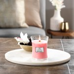 Lumanare Parfumata Borcan Mic Melon and Pink Quartz, WoodWick®